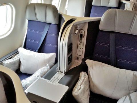 マレーシア航空A330ビジネスクラス2Kの座席
