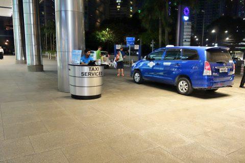 KLCCのチケット制タクシー乗り場
