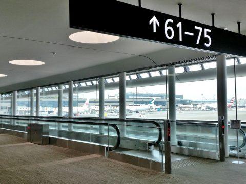 成田空港第2ターミナルサテライトへの連絡通路