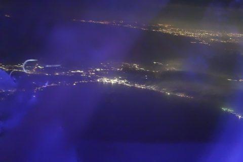 JALブルーライトで夜景が見えなくなった