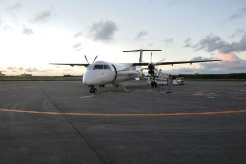 宮古空港の琉球エアコミューターRAC/DHC8-Q400CC