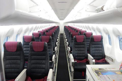 琉球エアコミューターRAC/DHC8-Q400CCの機内配列