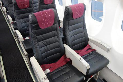 琉球エアコミューターRAC/DHC8-Q400CCの本皮シート