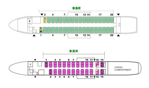 RAC-DHC8-Q400CCシートマップ