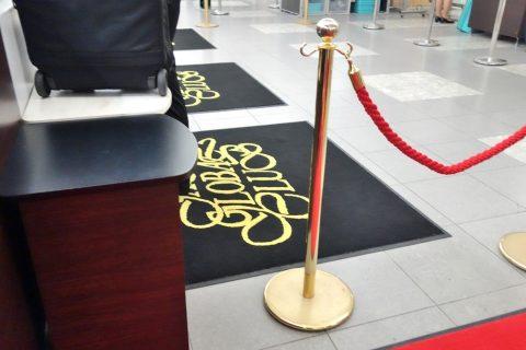 JALグローバルクラブカウンターの絨毯