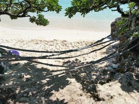 池間島フナクス(池間ブロック)のロープ