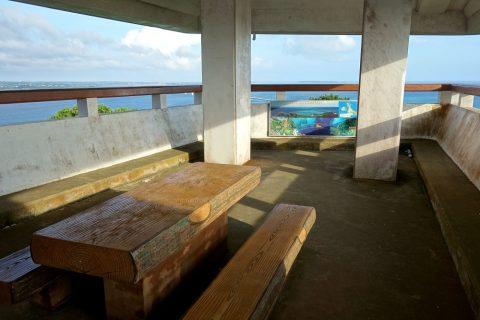 伊良部島/牧山展望台の椅子