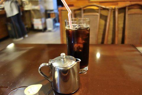 宮古島の喫茶店レオンのアイスコーヒー