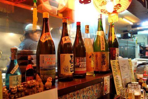 宮古島の居酒屋「眞丑」泡盛のボトルキープ