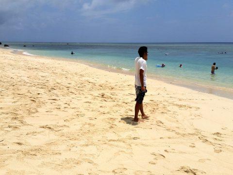 吉野海岸のビーチは500m