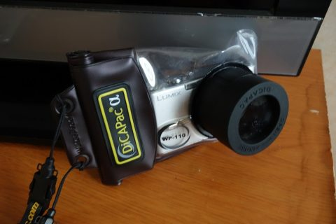 水中撮影用のカメラ