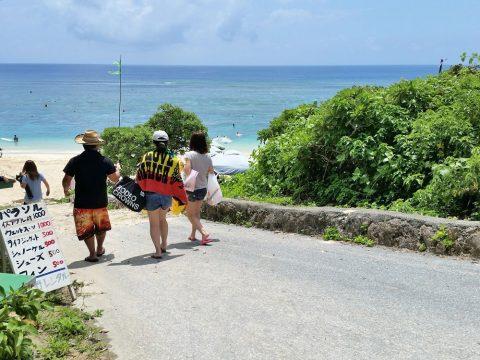 吉野海岸のビーチ入口
