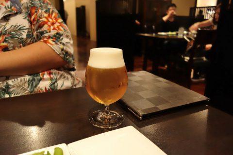 博多もつ鍋のやま中赤坂店の生ビール