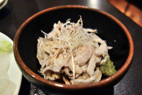 博多もつ鍋のやま中赤坂店の酢もつ