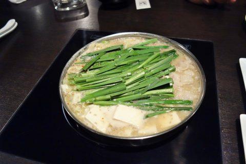 博多もつ鍋のやま中赤坂店のもつ鍋みそ味