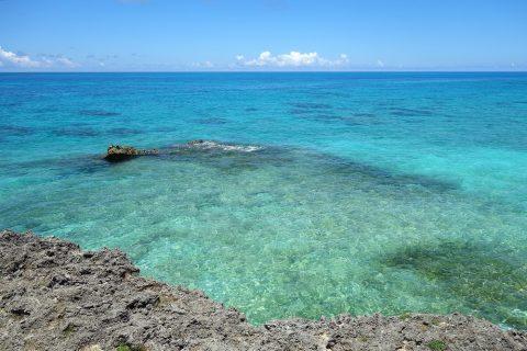 来間島のプライベートビーチ「ムスヌン浜」の美しい海
