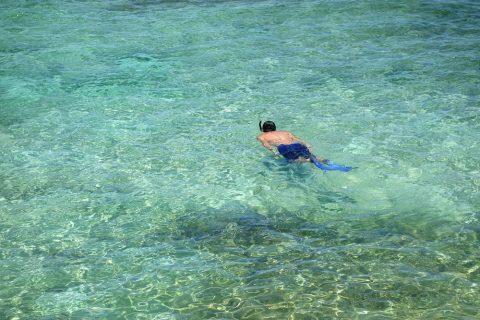 来間島のプライベートビーチ「ムスヌン浜」でシュノーケリング