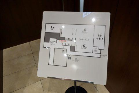 那覇空港サクララウンジの内面図フロアマップ
