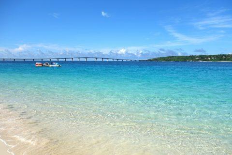 宮古島前浜ビーチの海の水