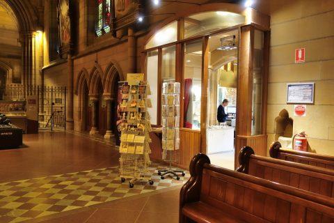 St-Marys大聖堂のギフトショップ
