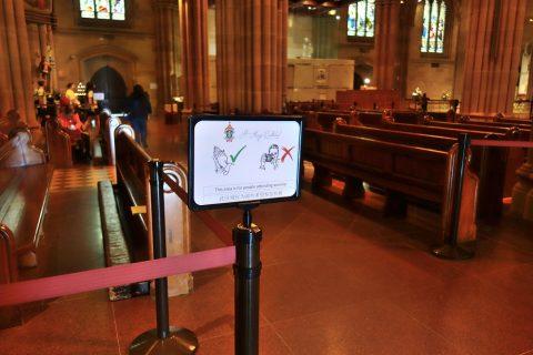 St-Marys大聖堂の立入り禁止場所