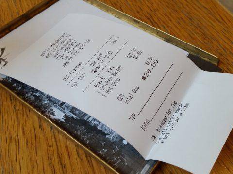 bills-darlinghurstのランチの値段