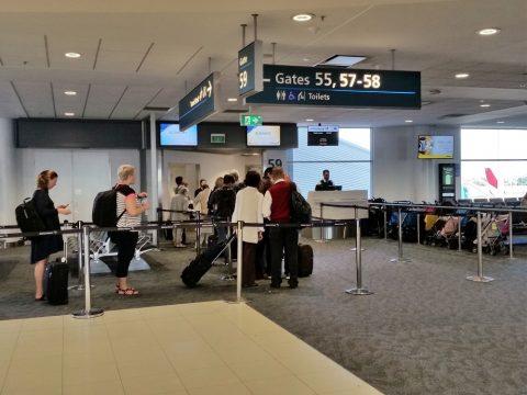 シドニー国際空港搭乗口