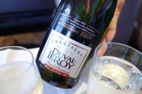 マレーシア航空ビジネスクラスのシャンパンDuval-Leroy