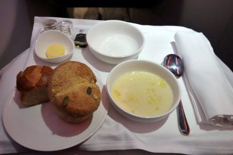 Potato-Cream-Soupマレーシア航空ビジネスクラス(シドニー~KL)