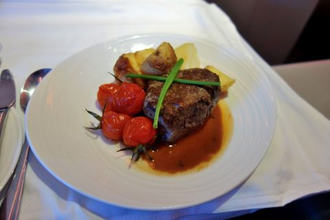 Grilled-Filet-Mignon/chef-on-callマレーシア航空ビジネスクラス(シドニー~KL)