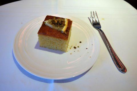 Orange-Polenta-Cakeマレーシア航空ビジネスクラス(シドニー~KL)