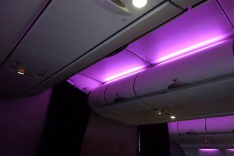 マレーシア航空ビジネスクラス機内照明