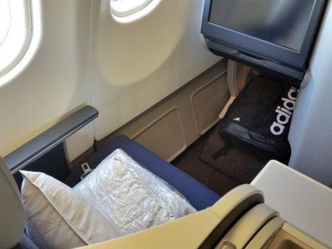 マレーシア航空a330ビジネスクラスの占有面積