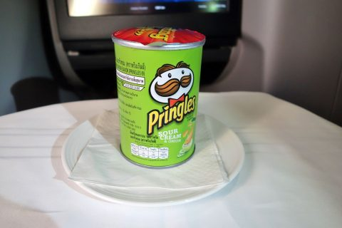 マレーシア航空ビジネスクラス(シドニー~KL)ポテトチップス