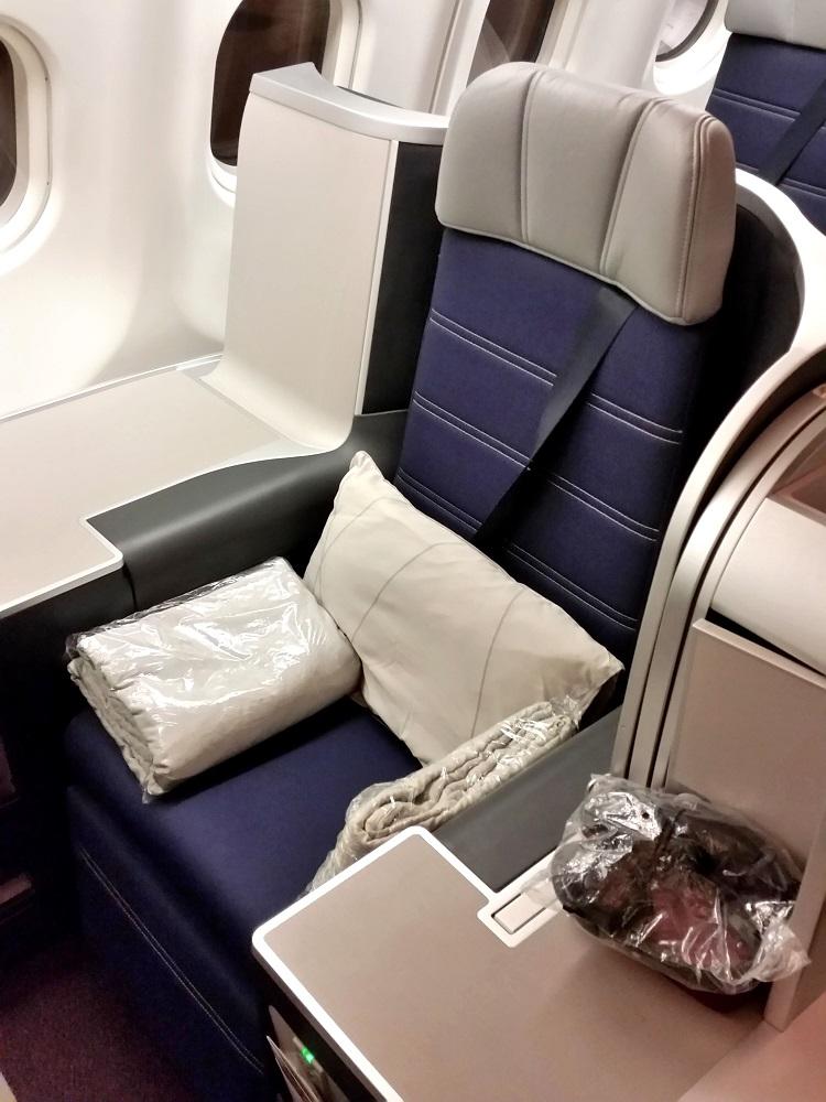 マレーシア航空ビジネスクラスA330シドニー行きの独立シート