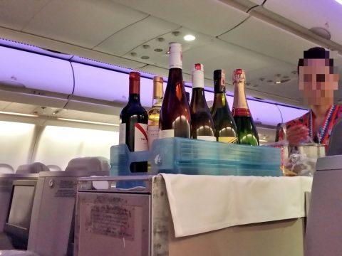 マレーシア航空ビジネスクラスA330シドニー行きのドリンクサービス