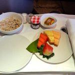 マレーシア航空ビジネスクラス【機内食】レポート!KL~シドニーの朝食