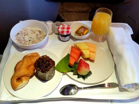 マレーシア航空ビジネスクラスKL~シドニーの朝食