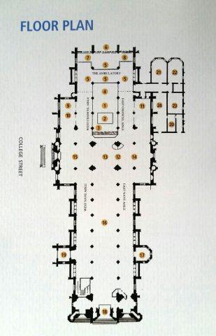 セントメリーズ大聖堂シドニーのフロアマップ