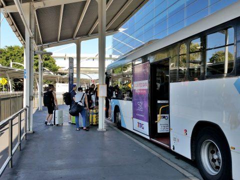 シドニー空港へバスと電車のアクセス