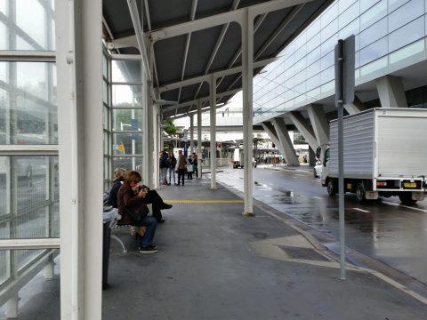 シドニー空港400番バスの発着場