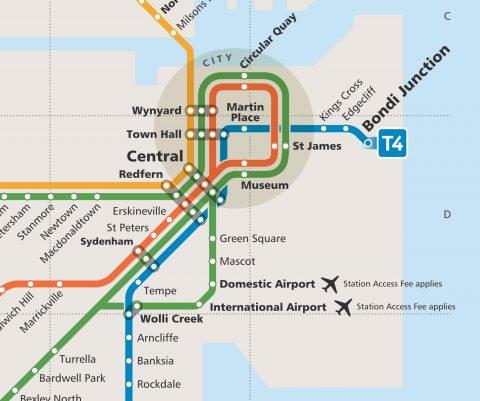 シドニー電車路線図