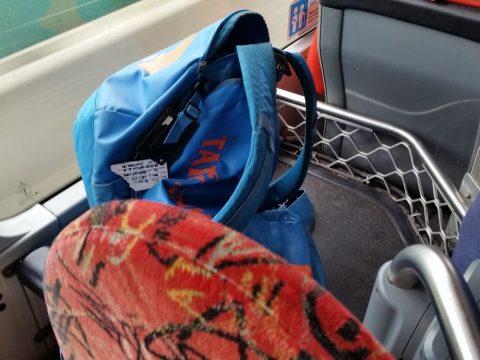 シドニー空港バス荷物棚