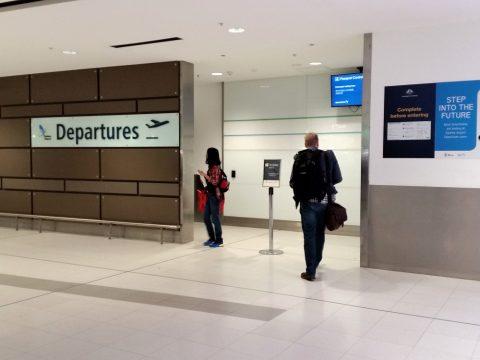 シドニー空港出発口
