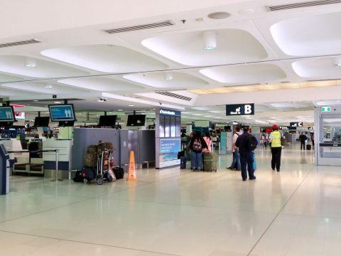 シドニー空港出発ロビー