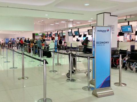 シドニー空港マレーシア航空チェックインカウンター