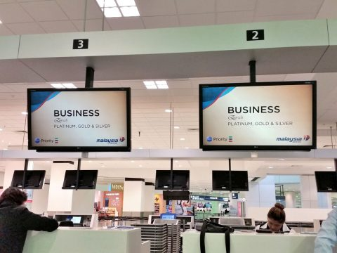 マレーシア航空ビジネスチェックイン