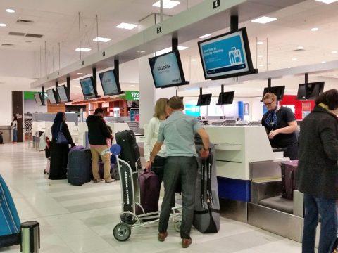 シドニー空港エコノミークラスカウンター