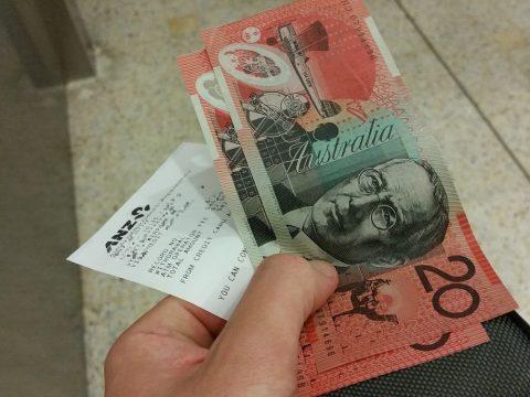 シドニー空港でオーストラリアドルへ両替