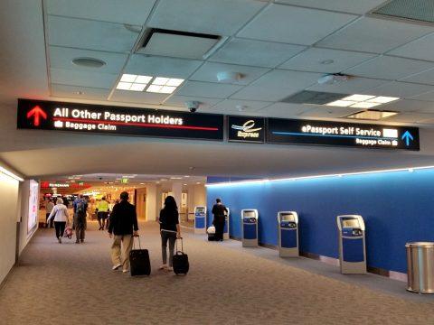 シドニー空港スマートゲート端末